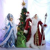Куклы и игрушки ручной работы. Ярмарка Мастеров - ручная работа Куклы Дед Мороз и Снегурочка. Handmade.