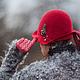 Шляпы ручной работы. Шляпка № 12 Красный Клош. AneleStudio. Интернет-магазин Ярмарка Мастеров. Красный, шляпка с вуалью