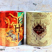 Посуда handmade. Livemaster - original item Mug Harry Potter Map Marauders Hogwarts. Handmade.