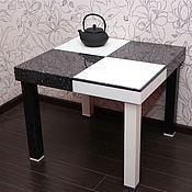 """Для дома и интерьера ручной работы. Ярмарка Мастеров - ручная работа стол из акрилового камня """"Шахматный"""". Handmade."""