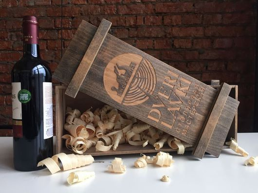 Корзины, коробы ручной работы. Ярмарка Мастеров - ручная работа. Купить Короб винный с индивидуальной гравировкой. Handmade. Короб