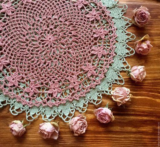 Текстиль, ковры ручной работы. Ярмарка Мастеров - ручная работа. Купить Ажурные салфетки с цветочным мотивом. Handmade. Полынь