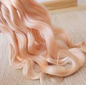 Материалы для творчества handmade. Livemaster - original item Hair for dolls (champagne). Handmade.