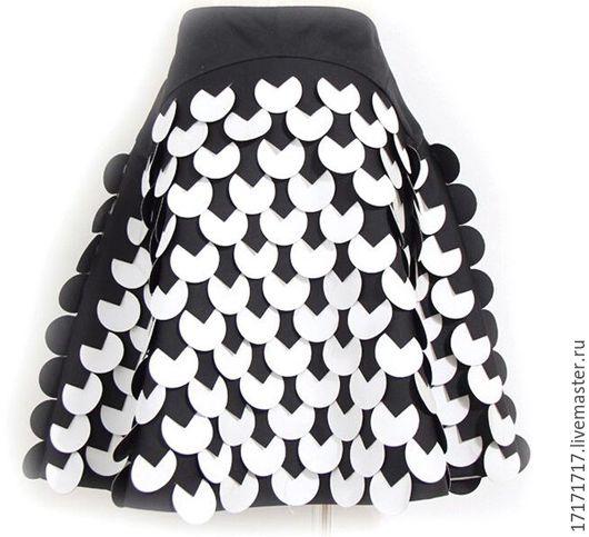 """Юбки ручной работы. Ярмарка Мастеров - ручная работа. Купить Юбка """"черно-белое"""". Handmade. Чёрно-белый, юбка"""