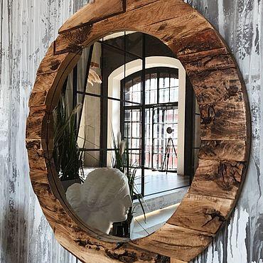 Для дома и интерьера ручной работы. Ярмарка Мастеров - ручная работа Зеркала: Wooden circle. Handmade.