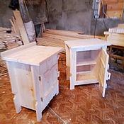 Хранение вещей ручной работы. Ярмарка Мастеров - ручная работа Прикроватная тумба из массива дерева. Handmade.