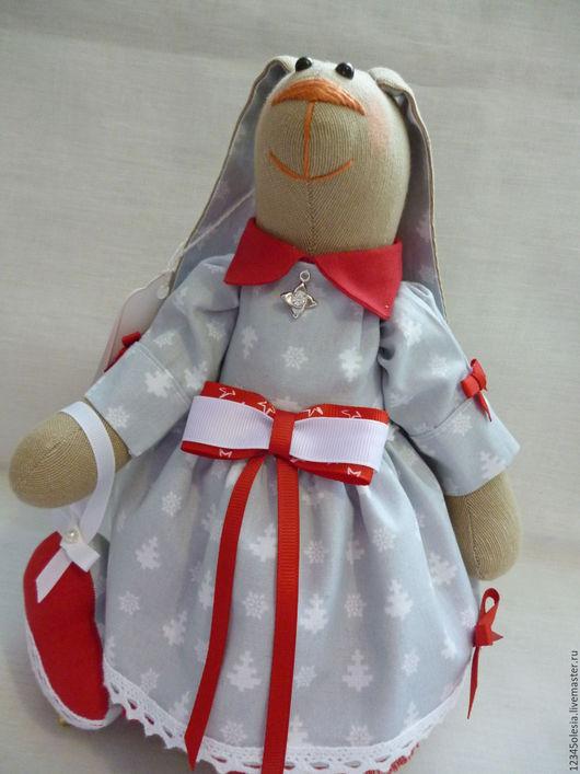 Куклы Тильды ручной работы. Ярмарка Мастеров - ручная работа. Купить Заяц тильда Марта. Handmade. Комбинированный, лента репсовая