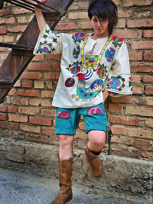 """Этническая одежда ручной работы. Ярмарка Мастеров - ручная работа. Купить рубаха """"Письмо о любви"""". Handmade. Рубаха, ручная вышивка"""