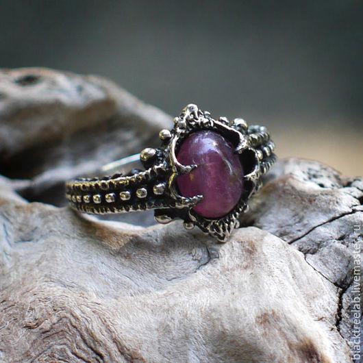 """Кольца ручной работы. Ярмарка Мастеров - ручная работа. Купить Серебряное кольцо с турмалином """"Лила"""". Handmade. Кольцо ручной работы"""