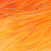 Картины и панно ручной работы. Ярмарка Мастеров - ручная работа Картина батик панно Сердце пустыни. Романтика. Красный. Оранжевый.. Handmade.