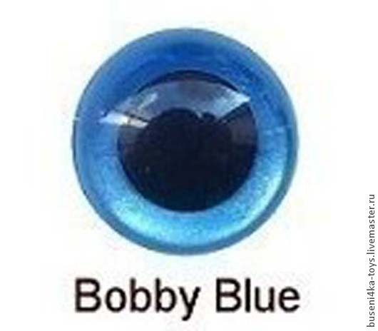 """Куклы и игрушки ручной работы. Ярмарка Мастеров - ручная работа. Купить 10,5мм Глаза для игрушек (синие) 2шт. """"3427"""". Handmade."""