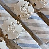 Для дома и интерьера ручной работы. Ярмарка Мастеров - ручная работа Полосатые салфетки из хлопка держатели с чайничками. Handmade.