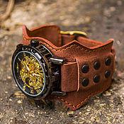 """Украшения ручной работы. Ярмарка Мастеров - ручная работа Часы наручные """"Victorian, наручные часы на коричневом кожаном браслете. Handmade."""