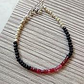 Украшения handmade. Livemaster - original item Silver bracelet with spinel. Handmade.