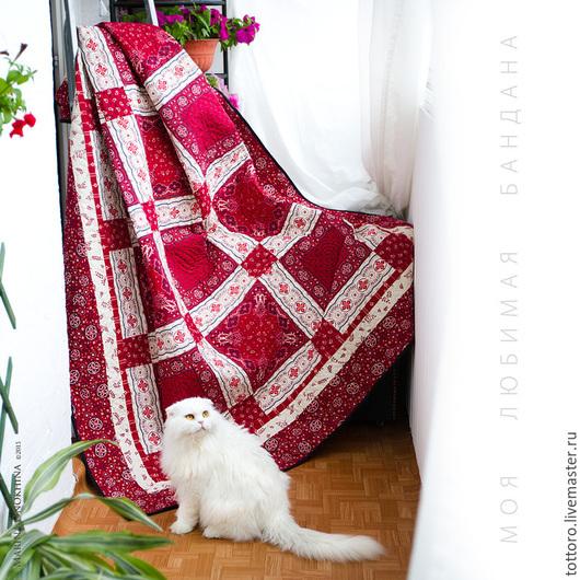 Текстиль, ковры ручной работы. Ярмарка Мастеров - ручная работа. Купить Моя любимая бандана. Handmade. Бордовый, красный, уют