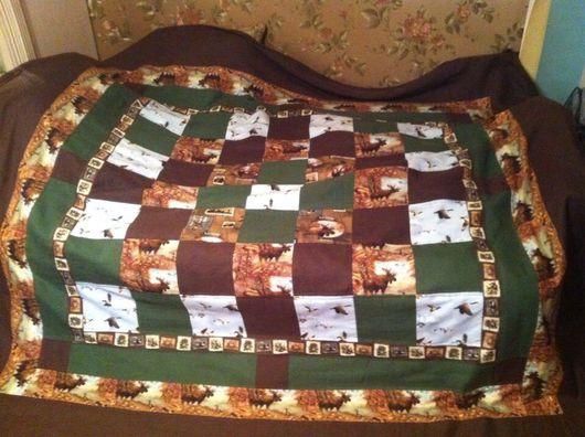 Текстиль, ковры ручной работы. Ярмарка Мастеров - ручная работа. Купить Покрывало Охота 100% лён  и хлопок. Handmade. Покрывало