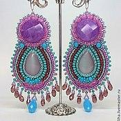 Украшения handmade. Livemaster - original item Large earrings and a ring