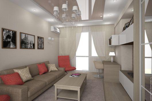 Дизайн интерьеров ручной работы. Ярмарка Мастеров - ручная работа. Купить Дизайн двух комнатной квартиры г. Самара. Handmade.