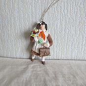 Подарки к праздникам ручной работы. Ярмарка Мастеров - ручная работа Пионерка.Елочные игрушки из ваты. Handmade.