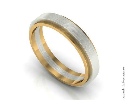 Кольцо Swivel Базовое кольцо - золото 585 пробы желтое Верхнее кольцо - золото 585 пробы белое
