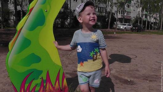 Одежда для мальчиков, ручной работы. Ярмарка Мастеров - ручная работа. Купить Морской костюмчик летний для мальчика. Handmade. Комбинированный