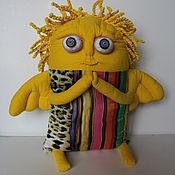Подарки к праздникам ручной работы. Ярмарка Мастеров - ручная работа жёлтый ангел (подушка). Handmade.