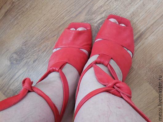 Винтажная обувь. Ярмарка Мастеров - ручная работа. Купить Летние босоножки Doralatina, Испания, размер 39, кожа, б/у. Handmade.