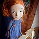 Коллекционные куклы ручной работы. Рыжая в голубом. Мурашова Наталья. Интернет-магазин Ярмарка Мастеров. Ручная работа, living doll