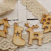 Материалы для творчества ручной работы. Ярмарка Мастеров - ручная работа Новогодняя гирлянда. Handmade.