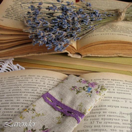 Закладка для книг, книжная закладка, закладка с лавандой, ручная работа, магазин Лаванда