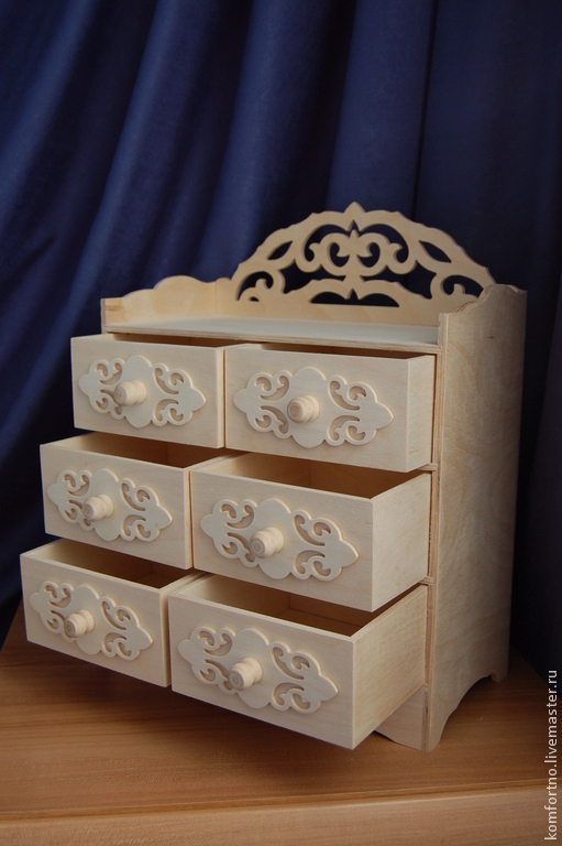 Doll's chest of drawers.Blank for decoupage and painting.857