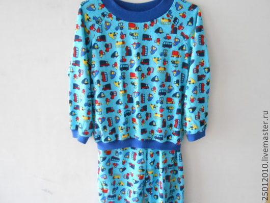 Одежда для мальчиков, ручной работы. Ярмарка Мастеров - ручная работа. Купить Пижама для детей. Handmade. Рисунок, для дома, натуральные материалы