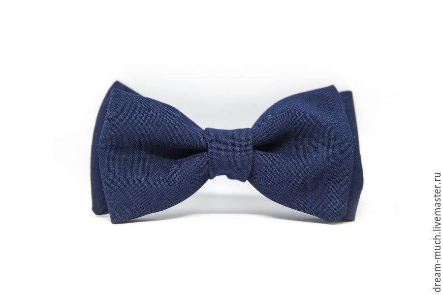 Bow tie dark blue solid, Ties, Moscow,  Фото №1
