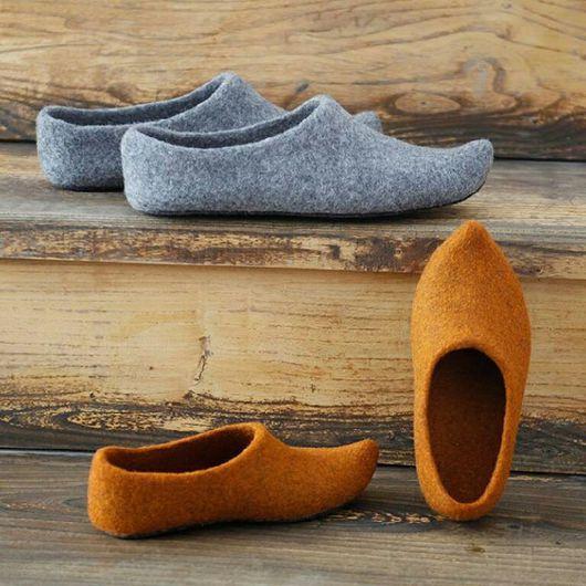 Обувь ручной работы. Ярмарка Мастеров - ручная работа. Купить Тапочки восточные. Handmade. Валяние из шерсти, домашние тапки