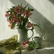 Картины и панно ручной работы. Ярмарка Мастеров - ручная работа Натюрморт фото, картина Субботнее утро. Handmade.