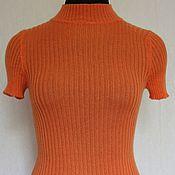 Одежда ручной работы. Ярмарка Мастеров - ручная работа Топ морковного цвета. Handmade.