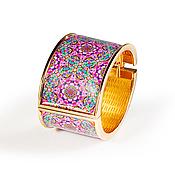 Bead bracelet handmade. Livemaster - original item Wide neon pink bracelet luxury and elegance