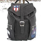 """Сумки и аксессуары handmade. Livemaster - original item Men""""s leather backpack «Aviator». Handmade."""