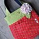Baby's Accessories handmade. Livemaster - handmade. Buy Double-sided denim handbag 'Strawberry'.Handbag for girls, denim bag