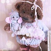 Мишки Тедди ручной работы. Ярмарка Мастеров - ручная работа Мишки Тедди: медвежонок малышка Флоша. Handmade.