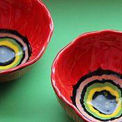 """Посуда ручной работы. Ярмарка Мастеров - ручная работа Чаши """"Маки"""". Handmade."""