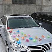 Свадебный салон ручной работы. Ярмарка Мастеров - ручная работа Бабочки на свадебную машину (капрон). Handmade.
