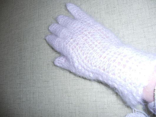 Варежки, митенки, перчатки ручной работы. Ярмарка Мастеров - ручная работа. Купить Перчатки ажурные. Handmade. Белый, практично