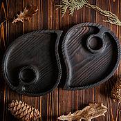Plates handmade. Livemaster - original item Wooden Forest plate. Handmade.