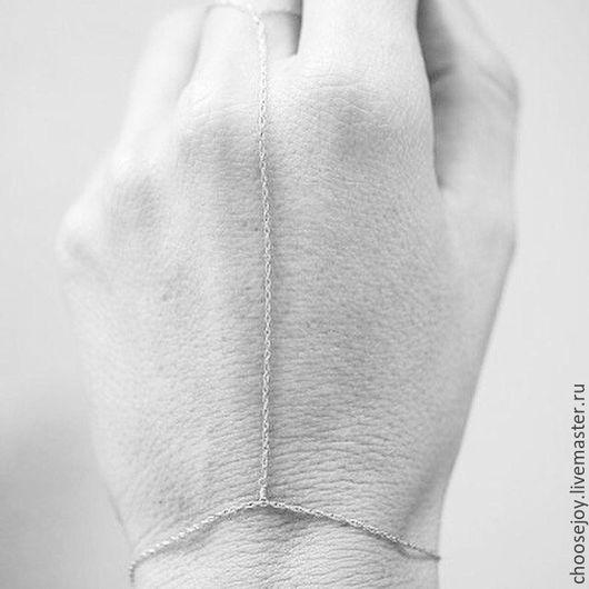Браслеты ручной работы. Ярмарка Мастеров - ручная работа. Купить Серебряный слейв-браслет.. Handmade. Серебряный, браслет, серебро