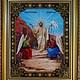 """Иконы ручной работы. Ярмарка Мастеров - ручная работа. Купить """"Воскресение Христово"""". Handmade. Вышивка бисером, вышивка, Икона из бисера"""