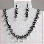 "Украшения handmade. Livemaster - original item Set necklace and earrings ""black lace"". Handmade."