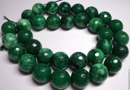 Для украшений ручной работы. Ярмарка Мастеров - ручная работа. Купить Агат ярко-зеленый 12 мм.. Handmade. Зеленый