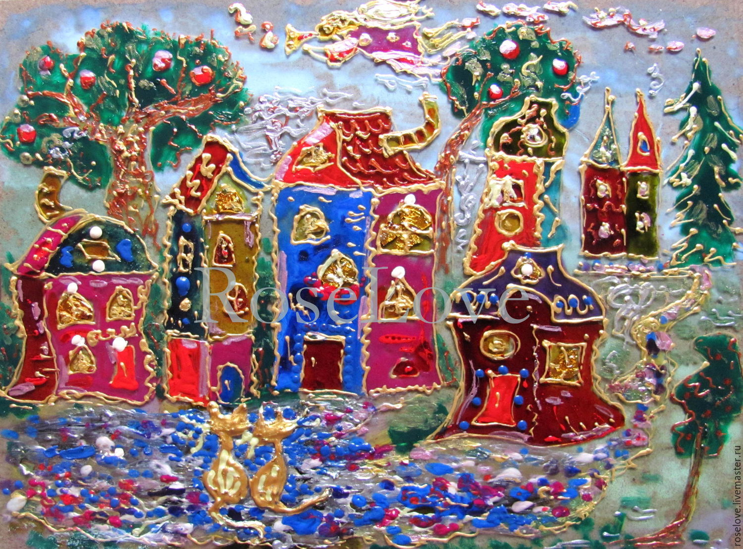 The author`s picture for the nursery `tales of the old city..`Catherine Aksenova
