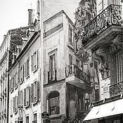 Картины и панно ручной работы. Ярмарка Мастеров - ручная работа Фотокартина город, Париж Черно белые картины «Улица Могадор». Handmade.